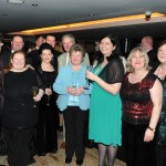 Long time member of the Mayo Asc in London Peter McGeever is pictured 6th left with a group of his family and friends.