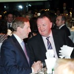 Mayo Asc Chairman Terry Gallagher and Taoiseach Enda Kenny in conversation.